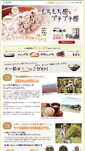 山田養蜂場の十一穀米|ランディングページ